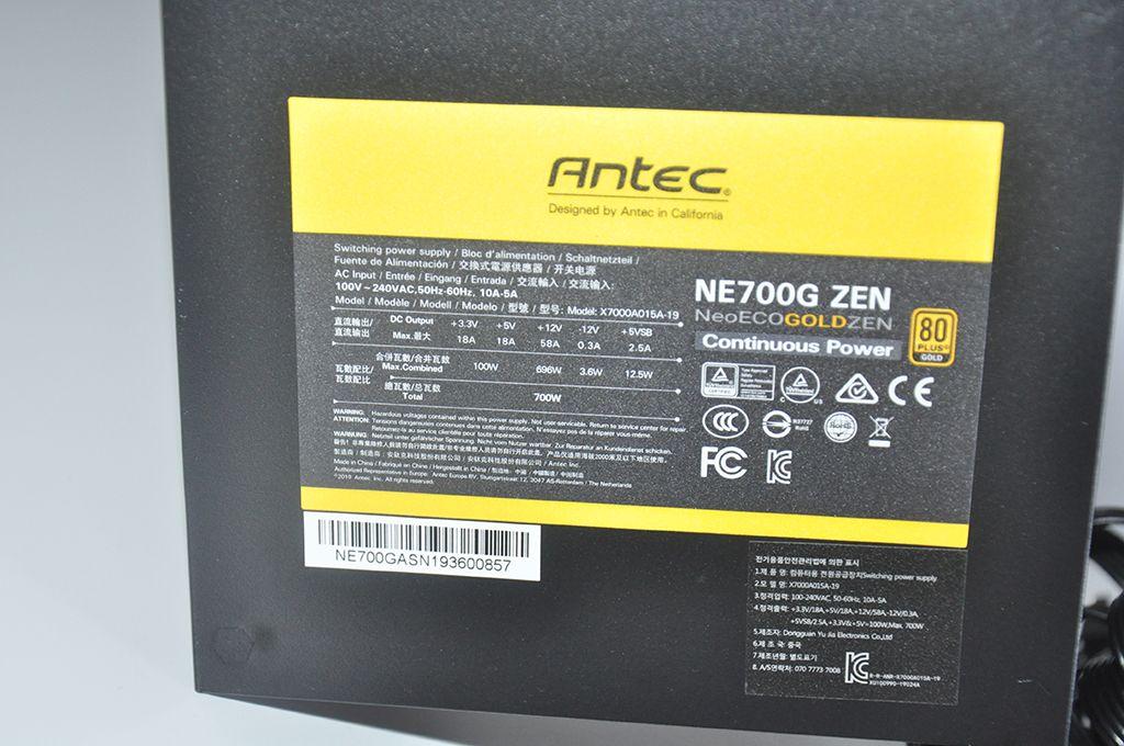 Review Antec Neo Eco Zen 700W 10