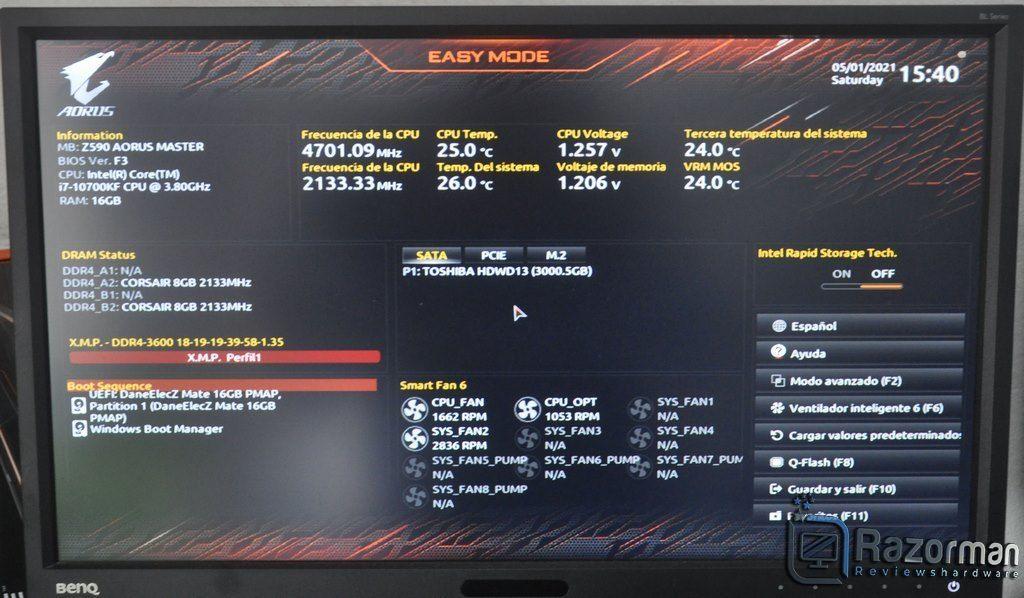 Review Aorus Z590 Master 21