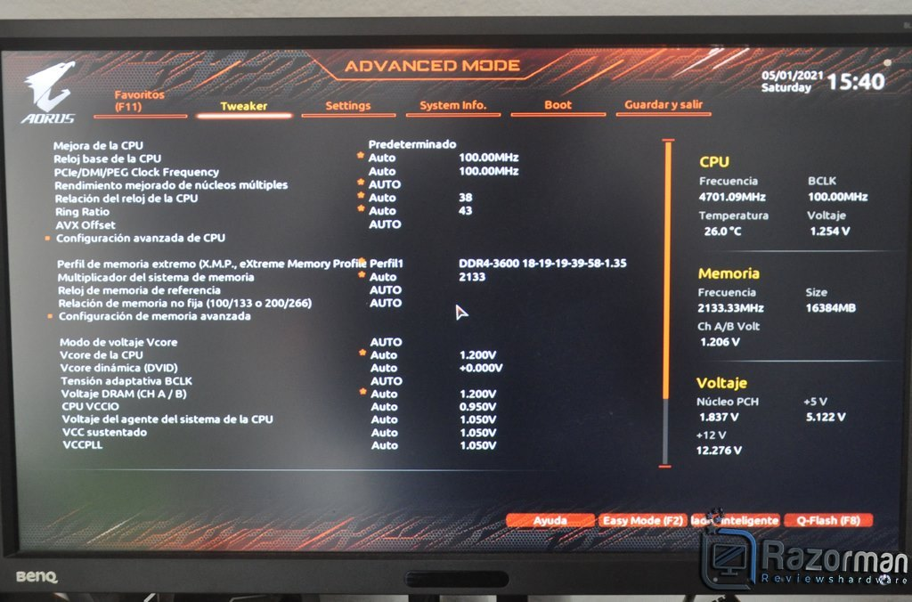 Review Aorus Z590 Master 22