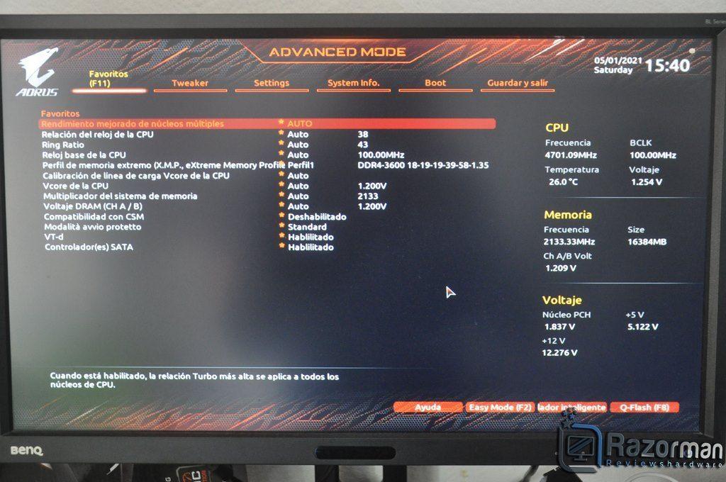 Review Aorus Z590 Master 23