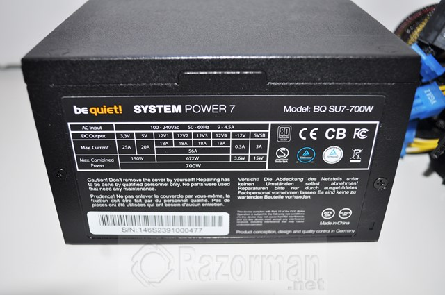 BE QUIET SYSTEM POWER 7 700W (3)