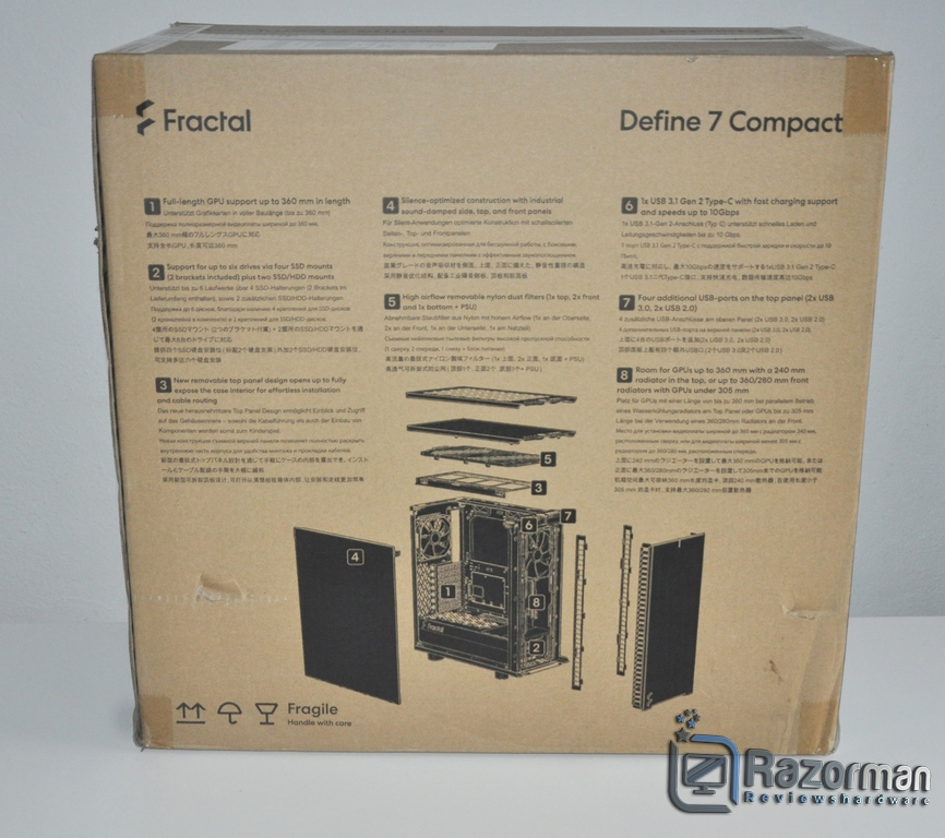 Review Fractal Define 7 Compact Light Tempered Glass 4