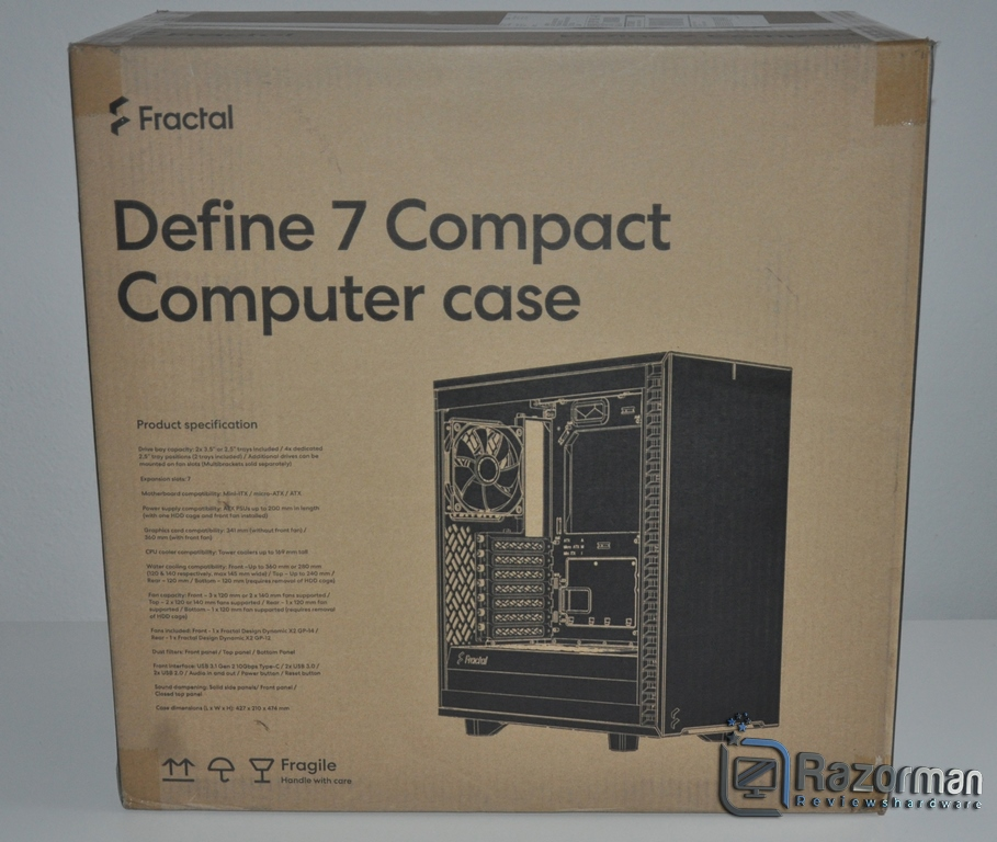 Review Fractal Define 7 Compact Light Tempered Glass 3