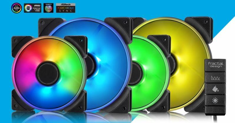 Fractal Design presenta sus ventiladores Prisma Series RGB 120/140mm 4