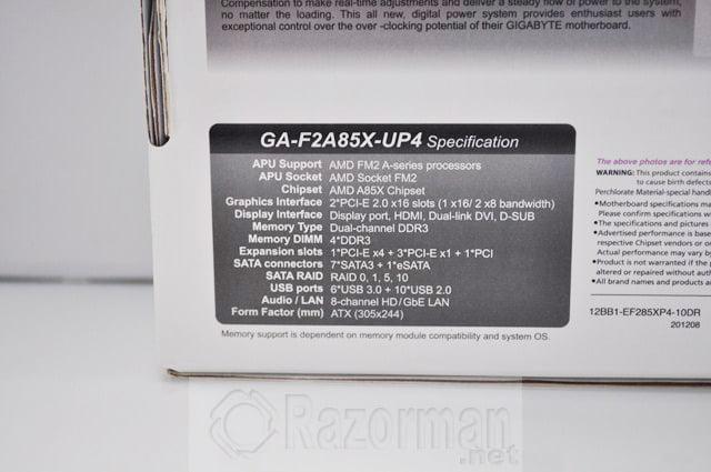 Review Gigabyte GA-F2A85X-UP4 y APU AMD A10 5800K 24