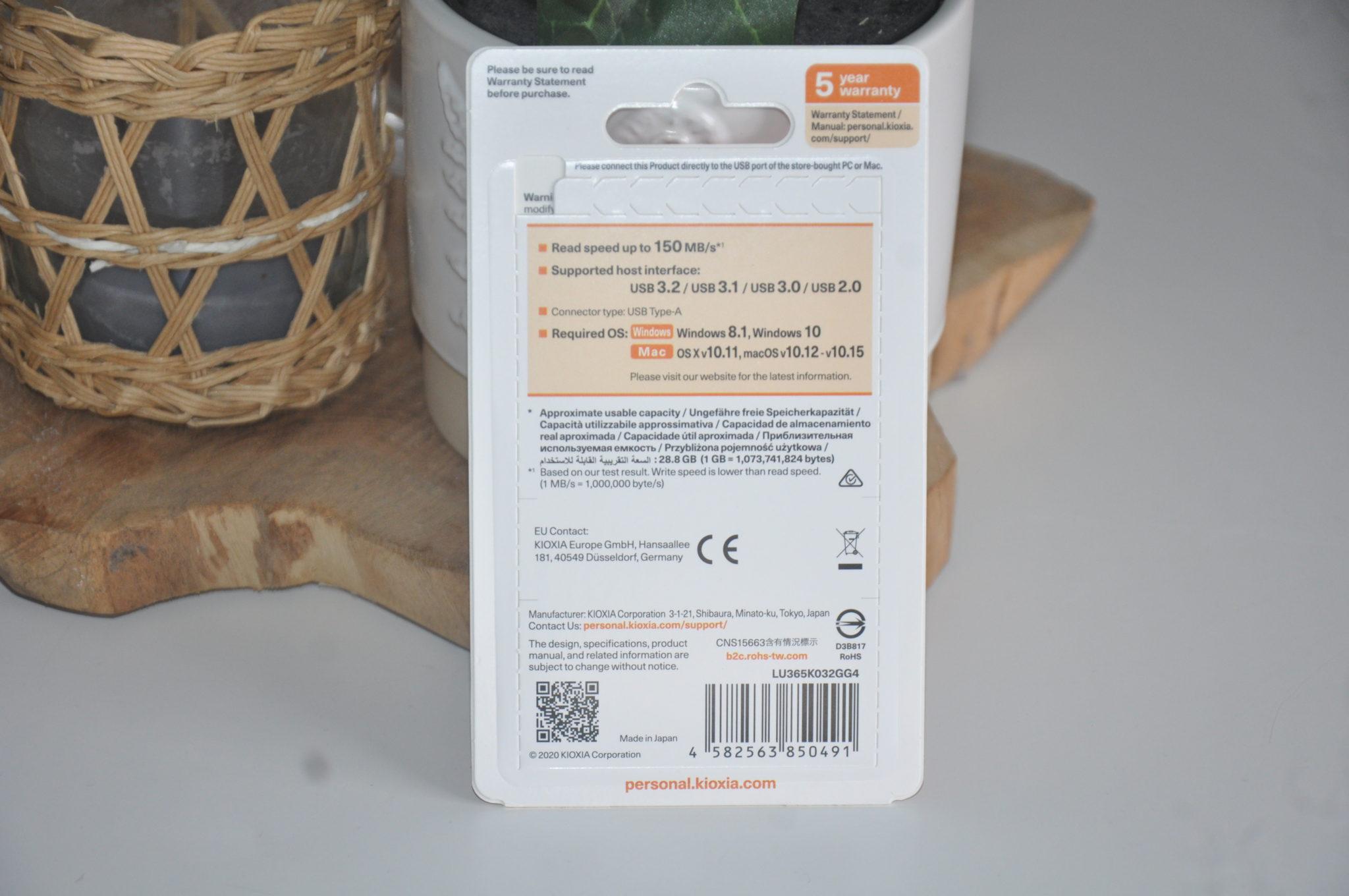 Review Kioxia Transmemory U365 32 GB 2