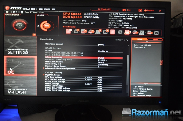 Review MSI X470 Gaming Plus – MSI X470 GAMING PLUS: BIOS