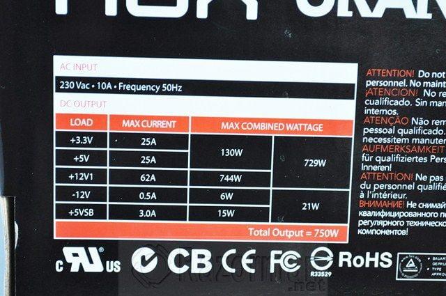 Review Fuente Alimentacion NOX URANO VX 750W 7