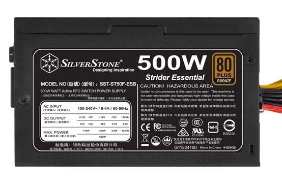 Review Silverstone Strider Essentials SST-ST50F-ESB 500W 2