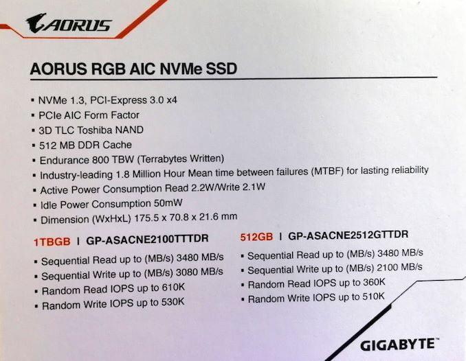 Gigabyte ha presentado sus nuevos Aorus PCIe y M.2 SSD 2