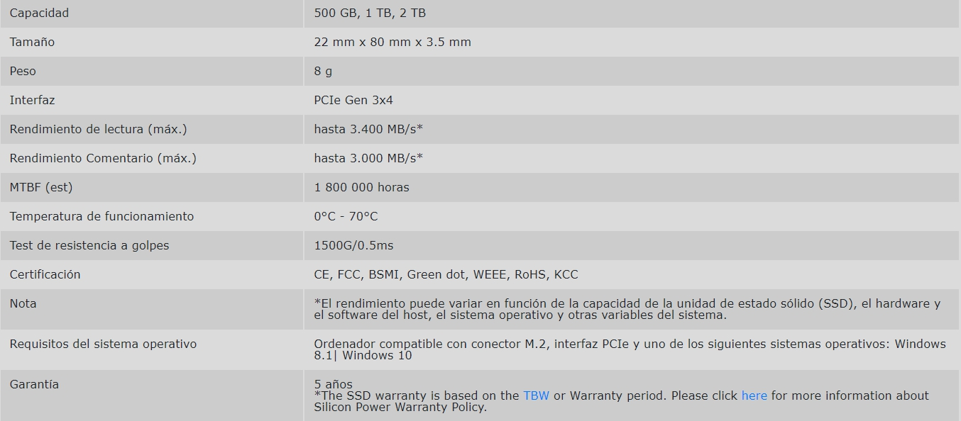 Review Silicon Power PCIe Gen3x4 UD70 2TB 1