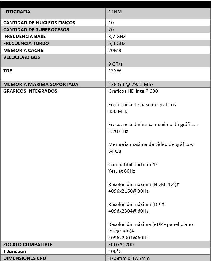 Review Intel Core i9 10900K 1