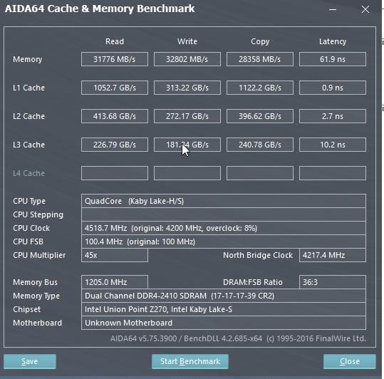 Review Intel Core i7 7700K 17