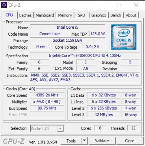 Review Intel Core i5-10600K 13