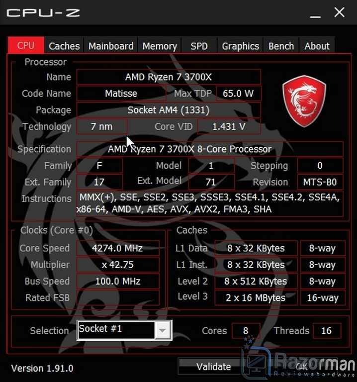 Review MSI MAG B550 Tomahawk 73