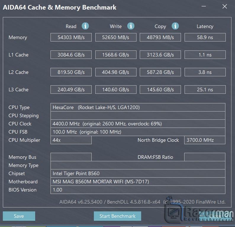 Review Intel Core i5 11400F 20
