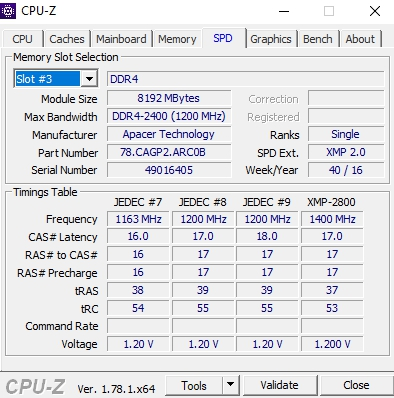 Review Apacer Commando DDR4 @ 2800 Mhz 6