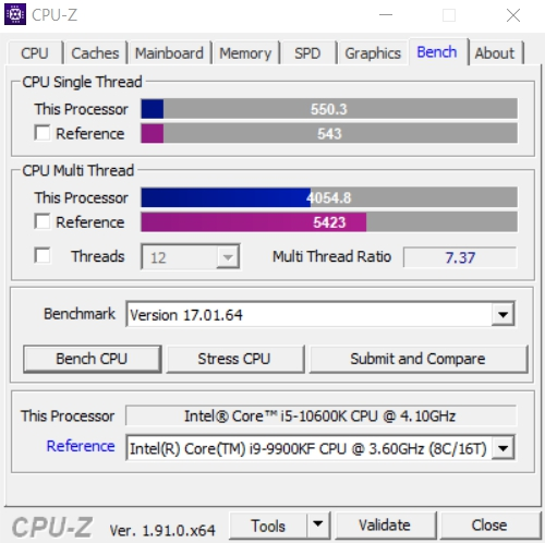 Review Intel Core i5-10600K 15