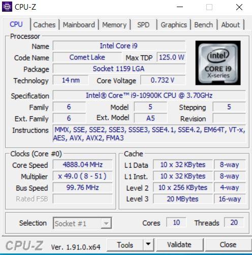 Review Intel Core i9 10900K 9