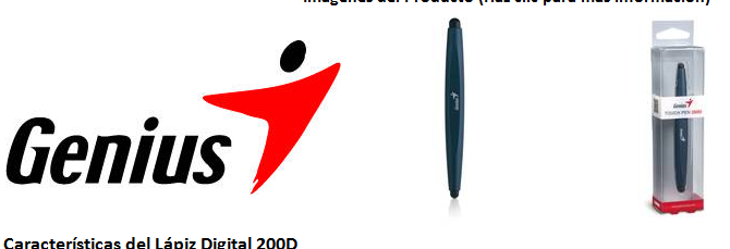Lapiz digital 200D de Genius