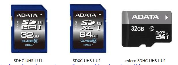 ADATA Tarjetas de memoria Premier UHS-I SDHC/SDXC & microSDHC/SDXC
