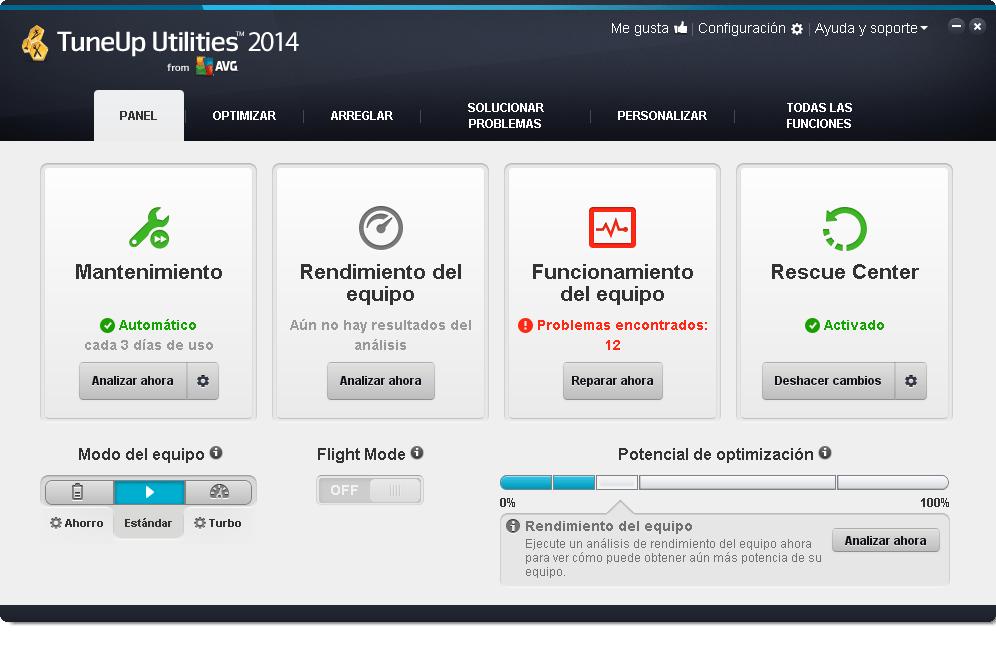TuneUp_Utilities_2014_Panel