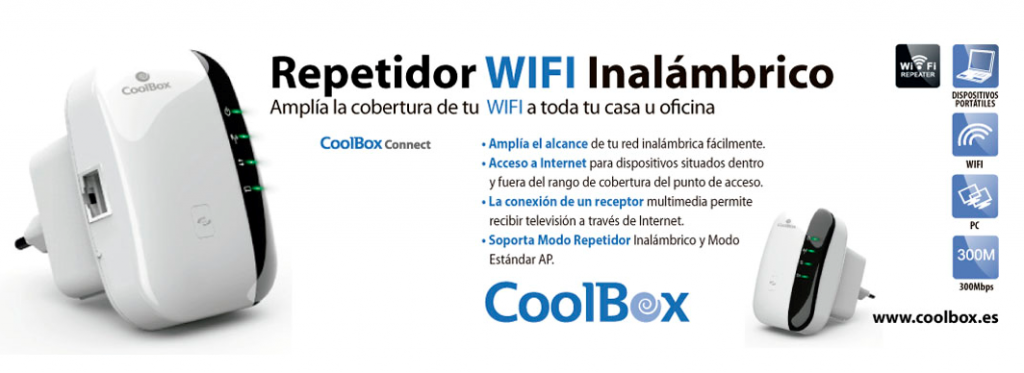 Repetidor Wifi inalambrico de Coolbox