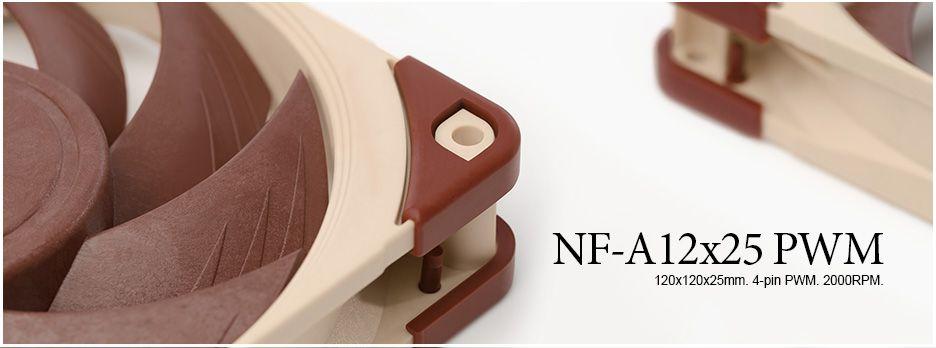 Noctua presenta sus nuevos ventiladores NF A12X25 PWM
